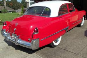 TURN HEADS 1949 Cadillac Series 62 Bright Red & White - Grey/Dark red Int 4 Door