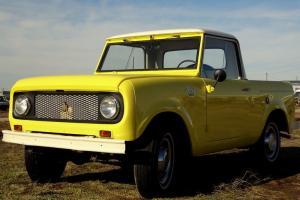 Classic 1962 International Scout, Original,80 series Half Cab pickup, 4x4. RARE