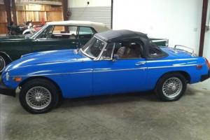 1978 MG B MGB Convertible 31,765 Correct Miles NICE!! Blue LOOK!! Time to ride!!