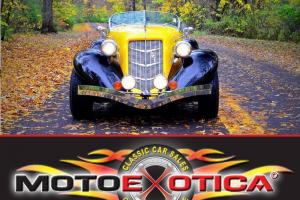 1936 AUBURN SPEEDSTER 876 REPLICA-CALI CUSTOM COACH-DESIRABLE YELLOW AND BLACK