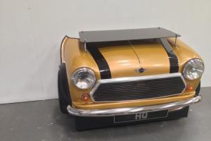 "Custom Mini Cooper Desk classic Car its Furniture made from a car ""Italian job"""