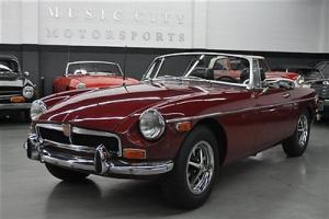 Great Driving chrome bumper MGB with OVERDRIVE!!