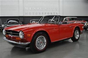 16356 ACTUAL MILE TWO OWNER rare AIR CONDITIONED EARLY TR6