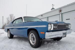1973 PLYMOUTH DUSTER, 1971 400 BIG BLOCK, 727 AUTO, 8 3/4 POSI, BLUE BEAUTY