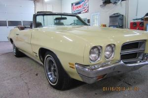 1972 Pontiac LeMans Sport Convertible No Reserve Beautiful Original #s Matching