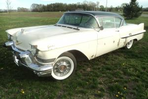 1957 Cadillac Series 62 2 DOOR COUPE DEVILLE Barn finD RAT ROD GASSER LOW RIDER