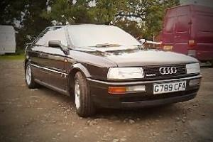 1990 AUDI COUPE 20V QUATTRO BLACK Photo