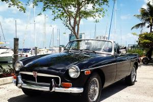 1974 MGB Black on Black with Wire Wheels and Chrome Bumper