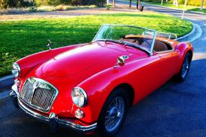 1960 MGA Red Convertable Restored to Show