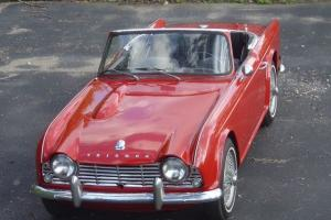 1964 Triumph TR4 Red Roadster