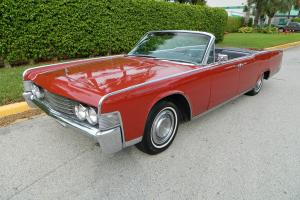 1965 LINCOLN CONTINENTAL CONVERTIBLE SUICIDE DOOR ICE COLD A/C AM/FM RADIO WORKS