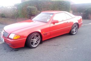 1992 MERCEDES 300SL-24 AUTO RED