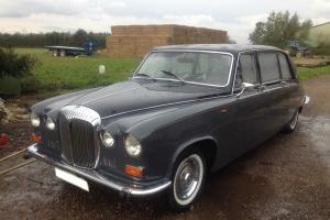 DAIMLER DS420 LIMOUSINE Wedding Classic Car Grey Black not Hearse Jaguar Rolls