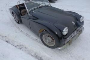 1957 Triumph TR3 Wire wheel Solid Car for restoration (Left hand drive) Complete