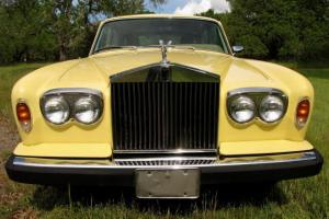 1978 Rolls Royce Silver Shadow II w/ 48k Orig Mi, Rare Chrome Yellow Calif Car Photo