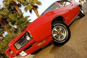 1968 PONTIAC GTO 400 4 SPEED MUNCIE MATCHING NUMBERS SOLAR RED NO RESERVE! Photo
