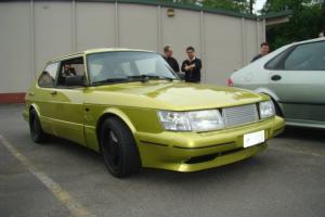 1987 Saab 900 SPG Turbo with Whale Tail RARE *saab lime metallic yellow paint*
