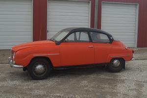 1966 Saab model 96 Standard - orange and black. Nice antique classic Photo