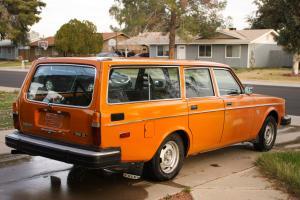 Rare 1976 Volvo 245 DL Station Wagon - Orange