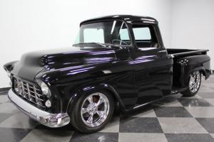 SINISTER BLACK BEAUTY, 350 CI V8, TH350 TRANS, LOWERED STANCE, SUPER NICE TRUCK!