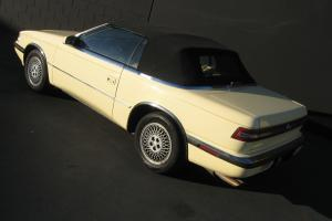 1989 CHRYSLER TC BY MASERATI MINT CONDITION CALIFORNIA LOW MILES NO RESERVE