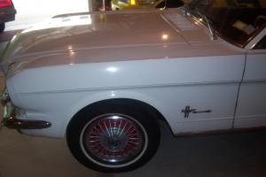 ford mustang 6 cyl white all original  1966
