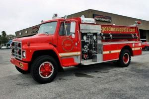 1980 International Fire Department Engine Truck Fully Functional Working Red
