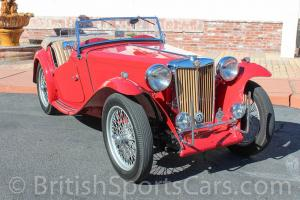 1949 MG TC 1 Owner For Over 40 Years California car