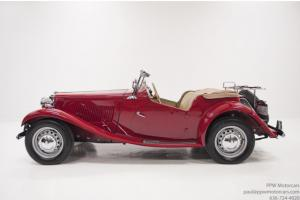 1950 MG TD Shown at Pebble Beach! Over 700 Hours in Nut & Bolt Restoration!!!