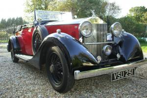 1933 ROLLS ROYCE 20/25 4/5 SEAT CONVERTIBLE COUPE STUNNING. Photo