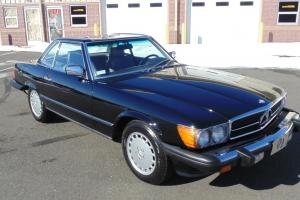 1987 Mercedes Benz 560SL 66k Miles Black/Grey Very Well Maintained Car !!!