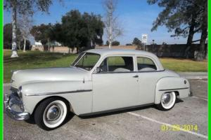 1950 Plymouth Deluxe 2D Sedan Rebuilt 6 Cylinder 3-Speed Manual RWD CALIFORNIA