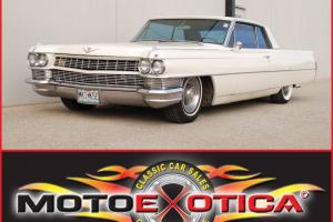 1964 CADILLAC COUPE DE VILLE-429-CID V8-A/C OPERABLE-RED LEATHER INTERIOR