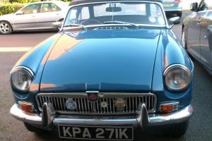 MGB Roadster 1972 Teal Blue Photo