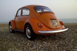 Classic VW Beetle 1971 1200 Stock example presented in factory L20D 'Clementine'
