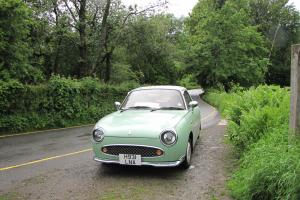 1991 NISSAN FIGARO CONVERTIBLE GREEN/WHITE
