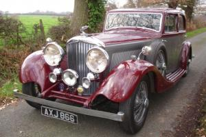 "1934 BENTLEY 3 1/2 litre ""DERBY"" Park Ward Aluminum SPORTS SALOON May Px"