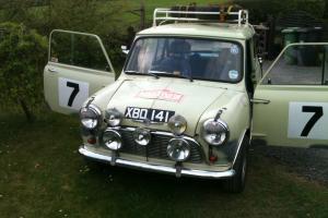 RARE Mini Mk1 XBD141 Rally BMC Works Replica Photo