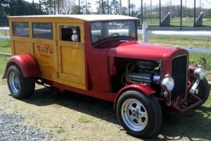 "1933 Sedan Delivery ""Woody"" Ultra Rare Steel,Street Rod,Full Resto,350,Auto,Exc."