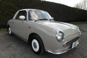 NISSAN FIGARO TOPAZ MIST 1.0 TURBO CONVERTIBLE - RARE COLOUR, USABLE CLASSIC Photo