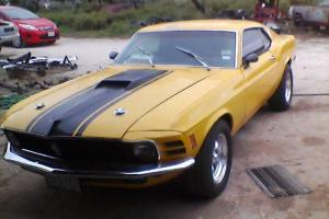 1970 FORD MUSTANG 302/V8 AUTO MACH 1 STYLE FASTBACK ! Photo