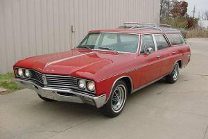 "1967 SPORT WAGON, BUICK'S VERSION OF THE ""VISTA CRUISER"" 340-4, FACTORY RED"