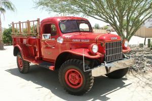 Beautiful Original 1948 Dodge Power Wagon Fire Truck Fire Engine