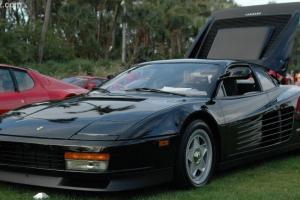 1986 Ferrari Testarosa, Black, Tan interior, F1 Mirror, F1 center lug rims.