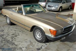 1983 Mercedes Benz 380 SL Convertible Auto Metallic Gold Cream Leather Hardtop