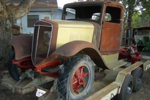 1935 36 International C 30 1 1/2 ton truck rat rod yard art parts truck