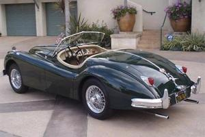 1956 JAGUAR XK 140 C TYPE ROADSTER BRITISH RACING GREEN EXCELLENT INSIDE & OUT!