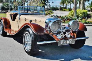 1937 Jaguar SS100 Replica Convertible V-8 Chevy Small Block Great Color Combo