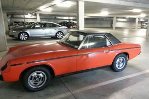 Orange, Classic car, Convertible, Woman driven, Original, Lotus 4cly. eng Photo