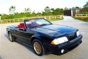 LX 1988 Ford Mustang ASC McLaren Convertible RARE 5.0L V8 Auto Clean Carfax FL C Photo